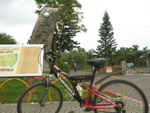 自転車借りるよ!