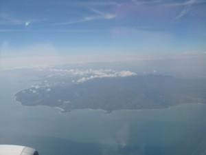 台湾を上空から