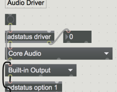 Max7のパッチ内でオーディオドライバを設定する